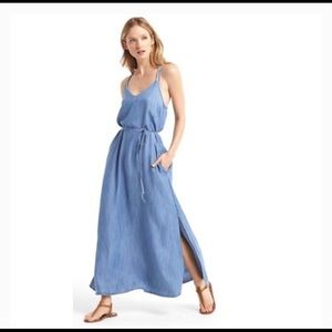 Gap denim maxi dress